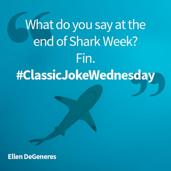 Ellen DeGeneres Shark Week Tweet