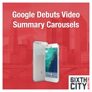 Google Video Carousels