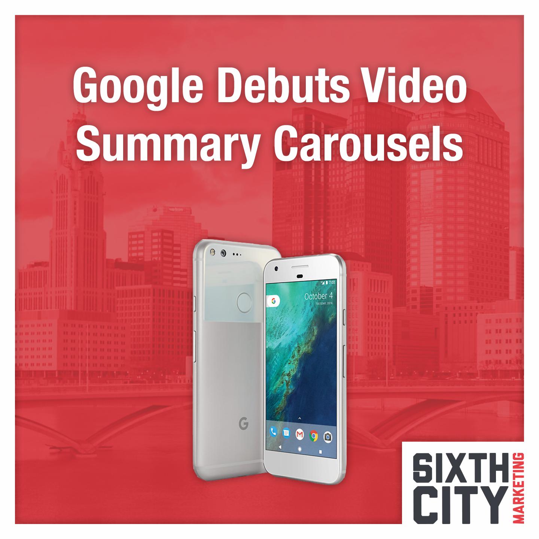 Google Video Carousels