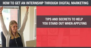 how to get an internship using digital marketing
