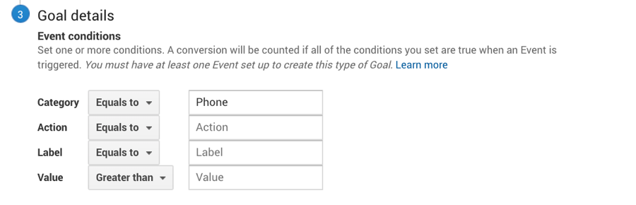 goal tracking GA