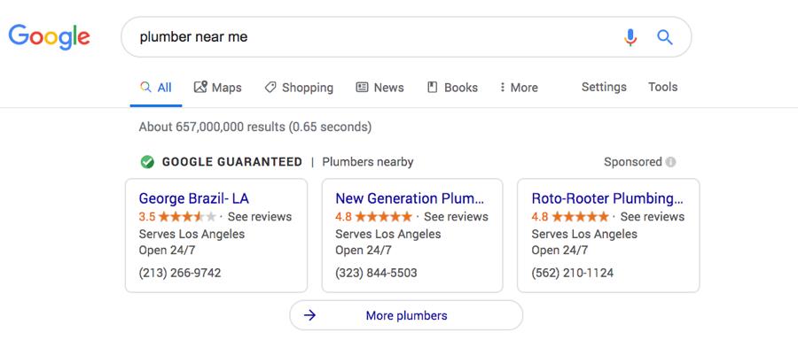 plumber example