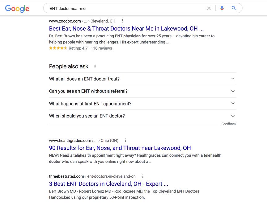 ENT google search